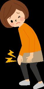 膝が痛い女性イラスト